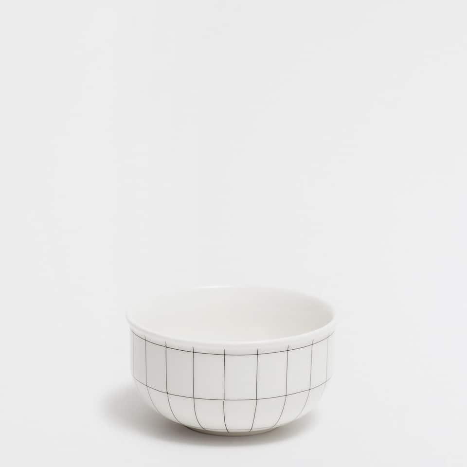 Geometric-print mini bowl
