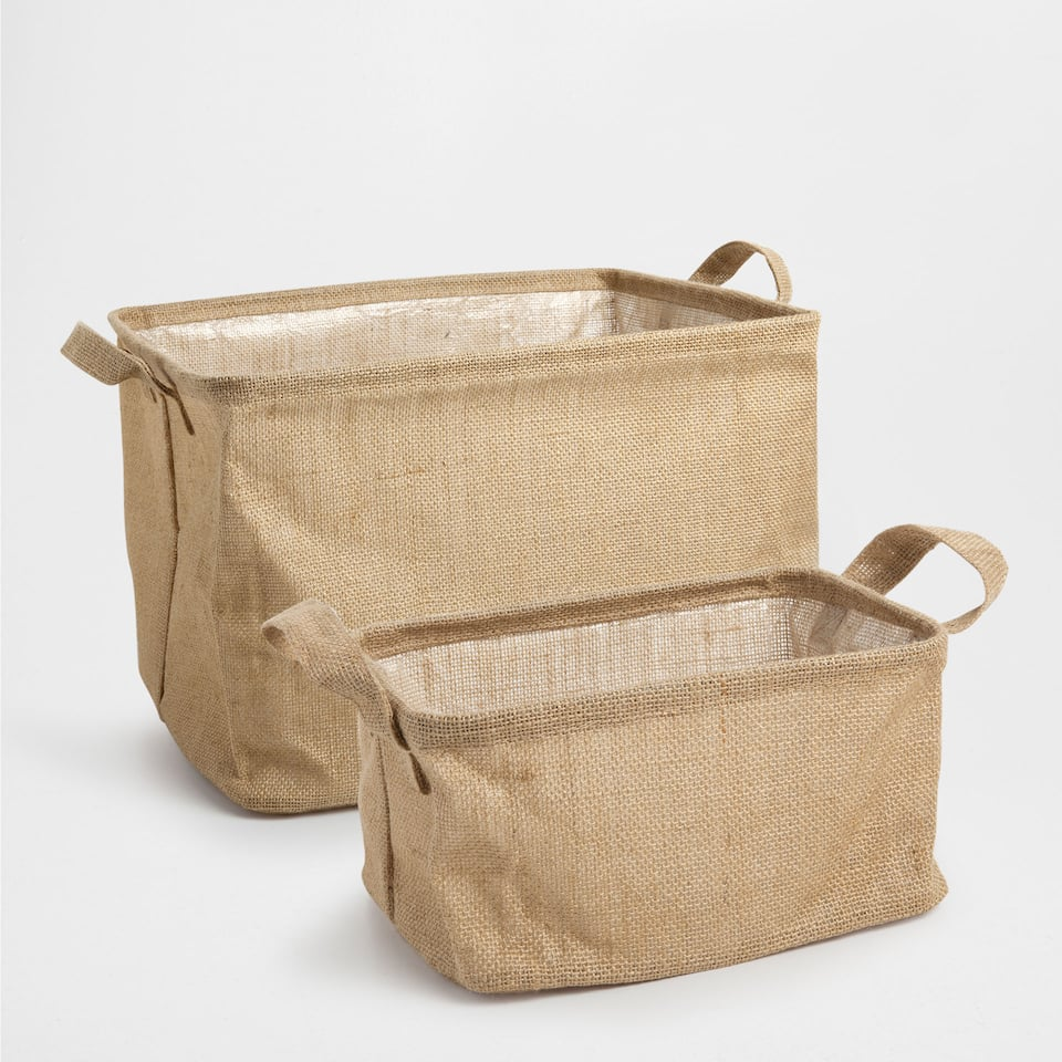 FOLD-UP JUTE BASKET