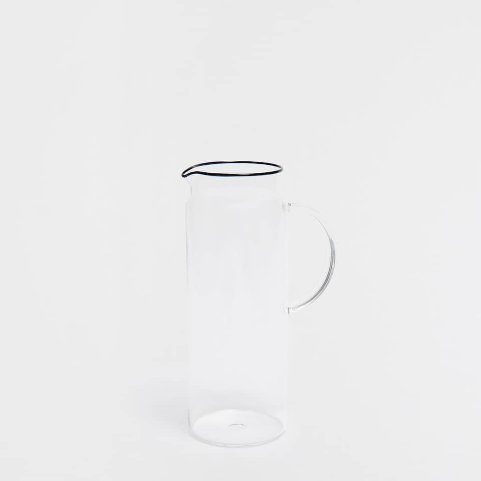 THIN BLACK GLASS PITCHER