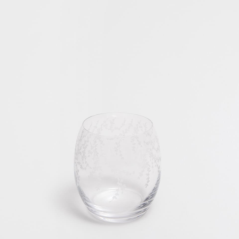 FLOWERS CRYSTAL TUMBLER