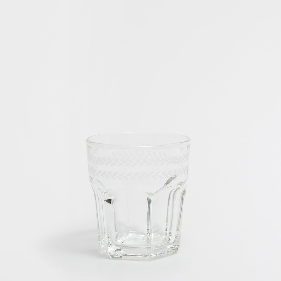 RUSTIC GLASS TUMBLER