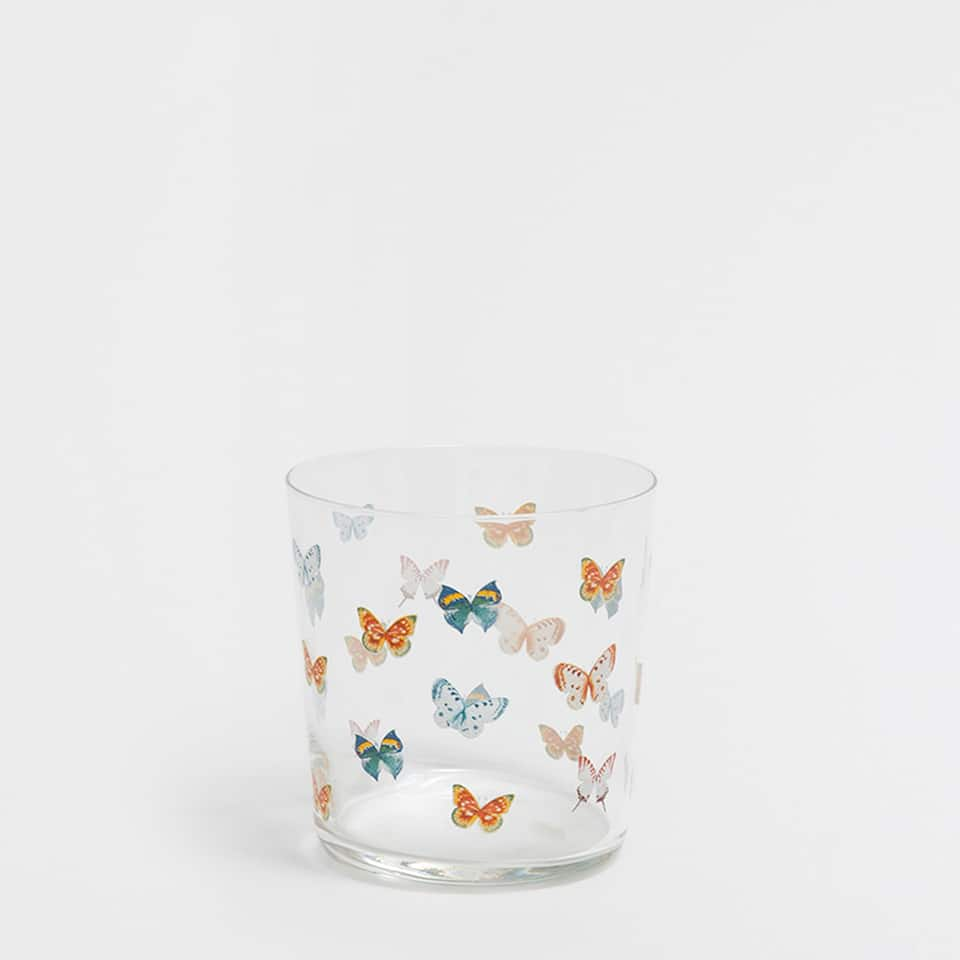 BUTTERFLIES GLASS TUMBLER