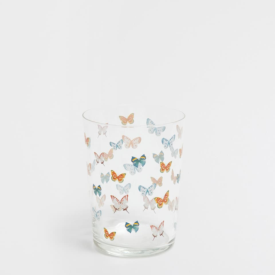 BUTTERFLIES LARGE GLASS TUMBLER