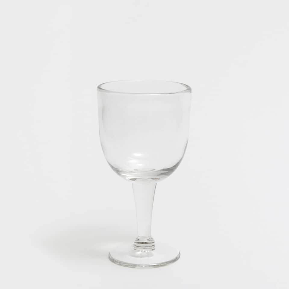 GLASS WINE GLASS WITH A RAISED LINE