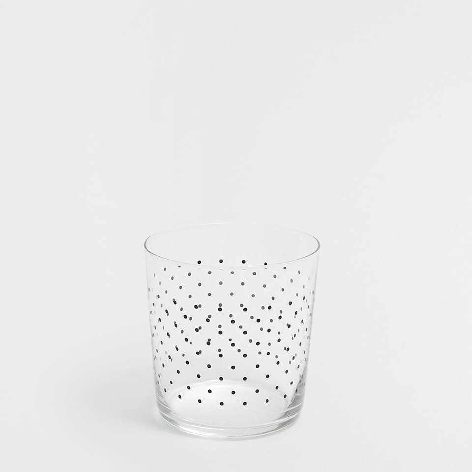 TUMBLER WITH DOTTY DESIGN