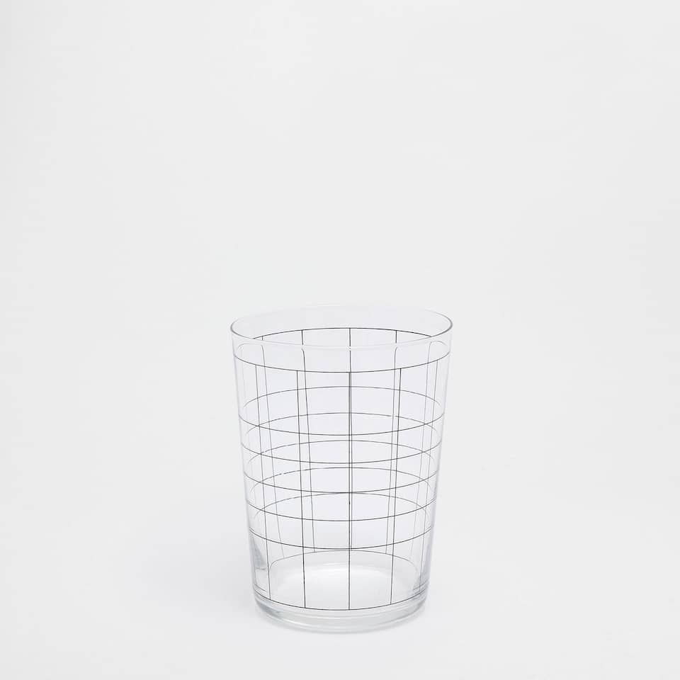 GRIDDED LARGE TUMBLER