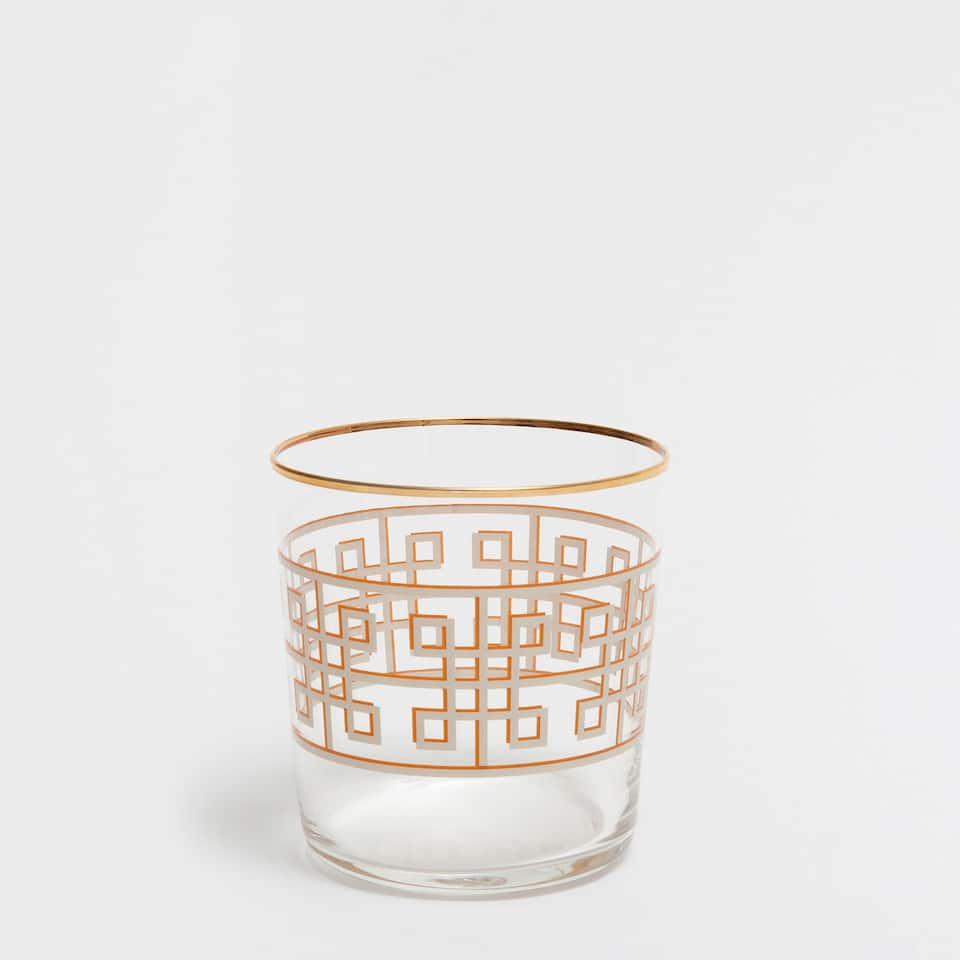 GEOMETRIC SERIES GLASS TUMBLER