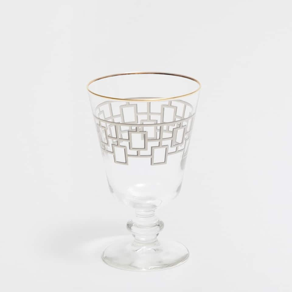 GEOMETRIC SERIES GLASS WINE GLASS