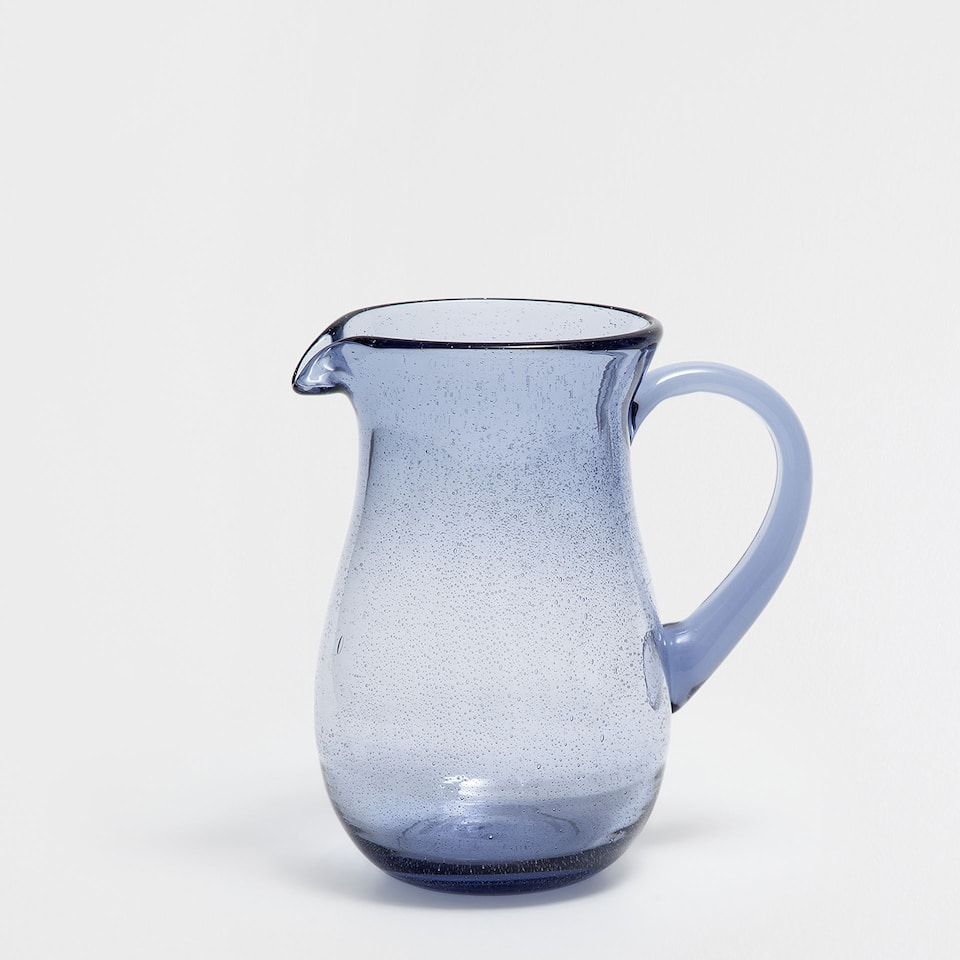 BUBBLES GLASS PITCHER