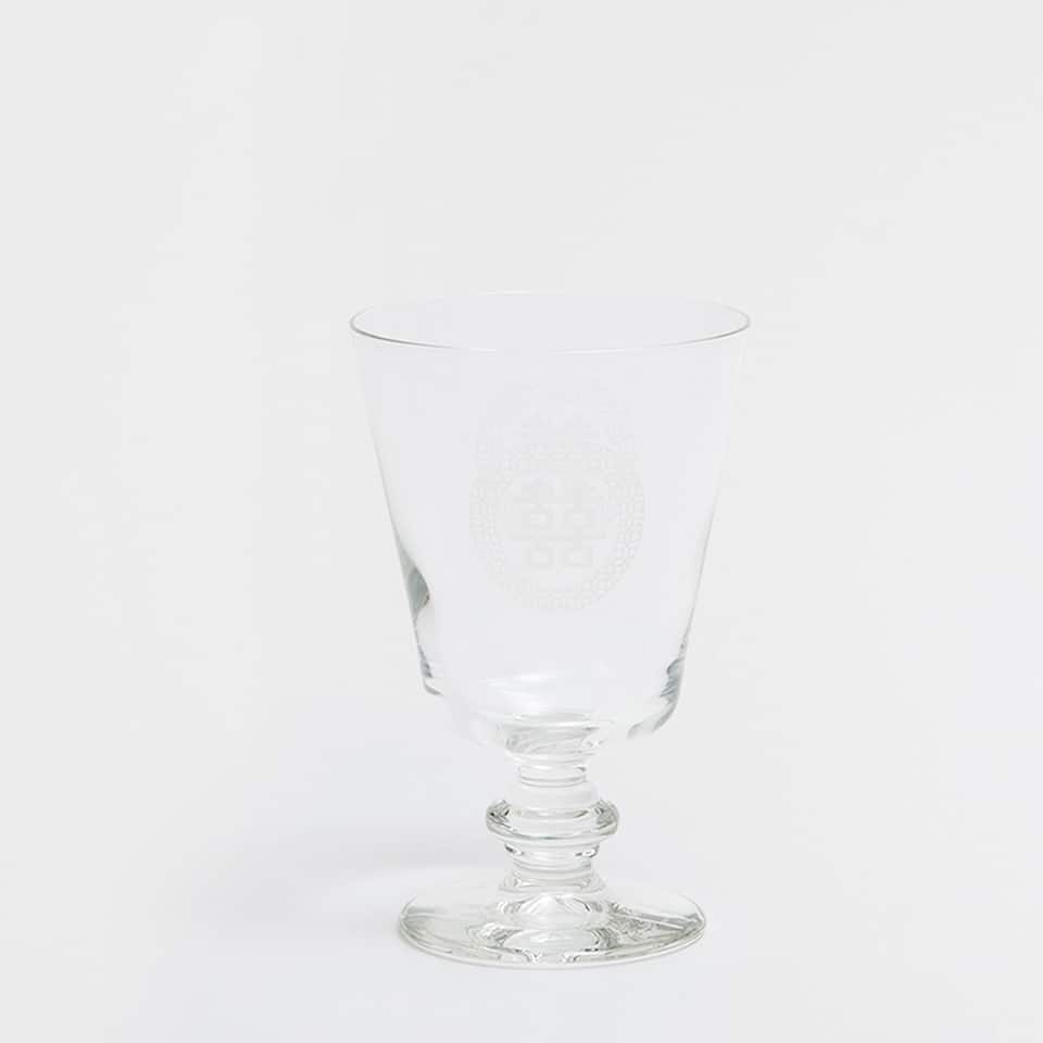 CHINESE LETTERS GLASS WINE GLASS