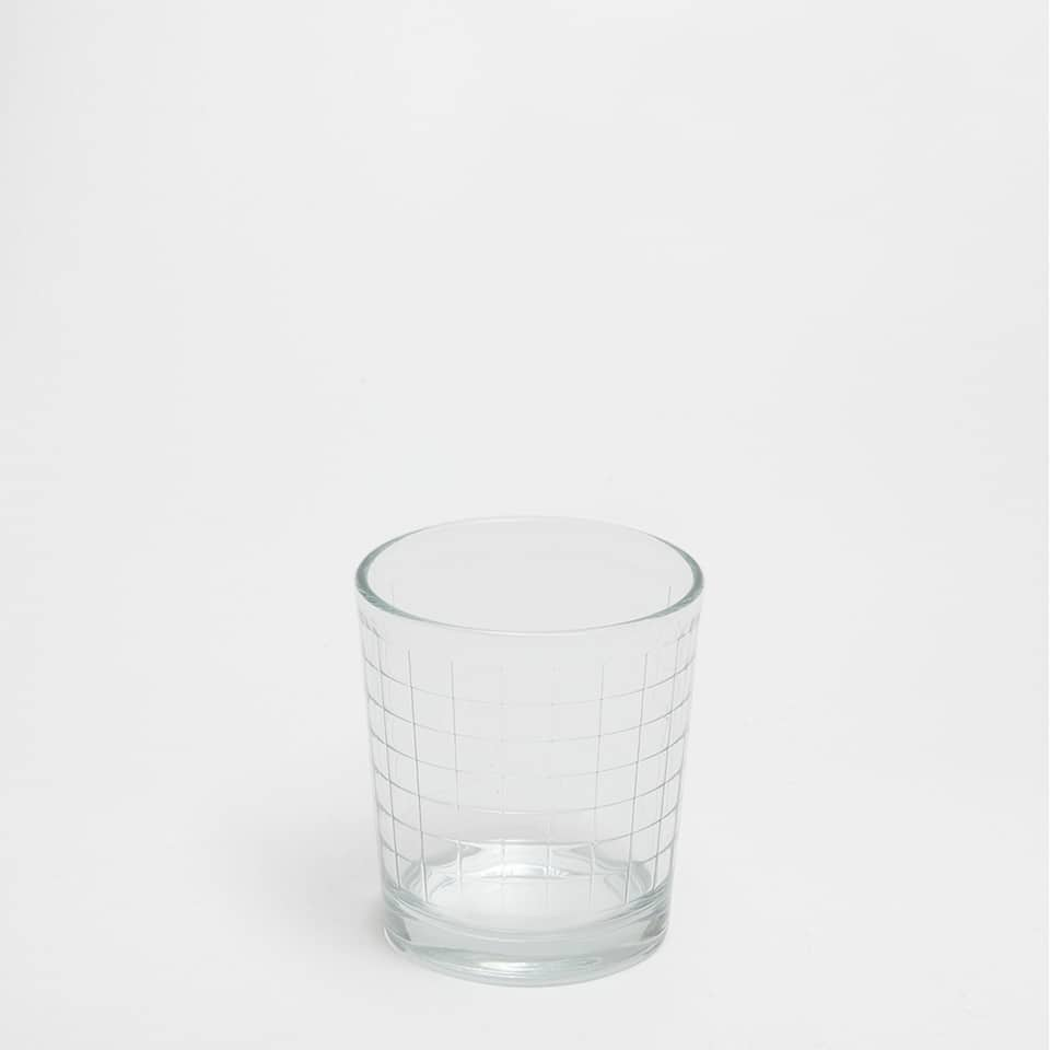 CHECKED GLASS TUMBLER