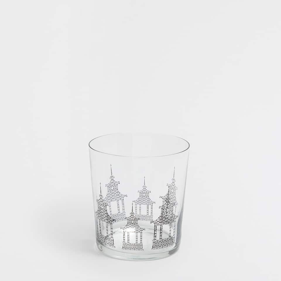 JAPANESE HOUSE GLASS TUMBLER