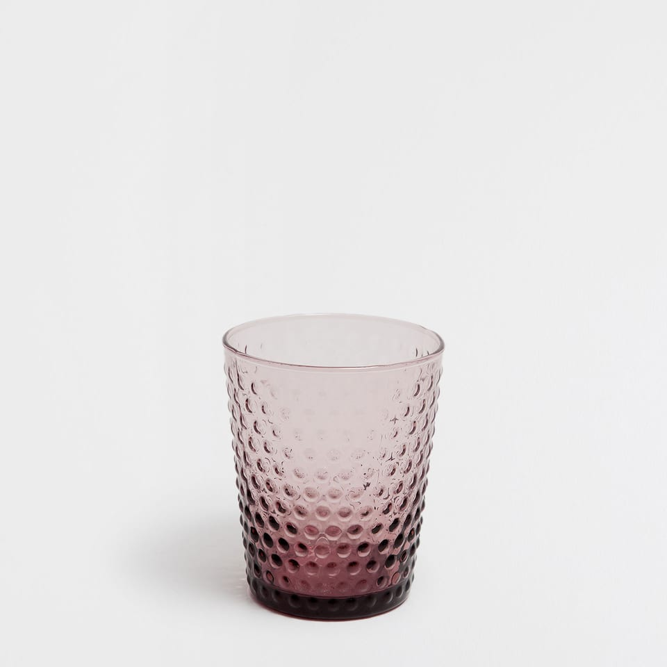 GLASS DOTS TUMBLER
