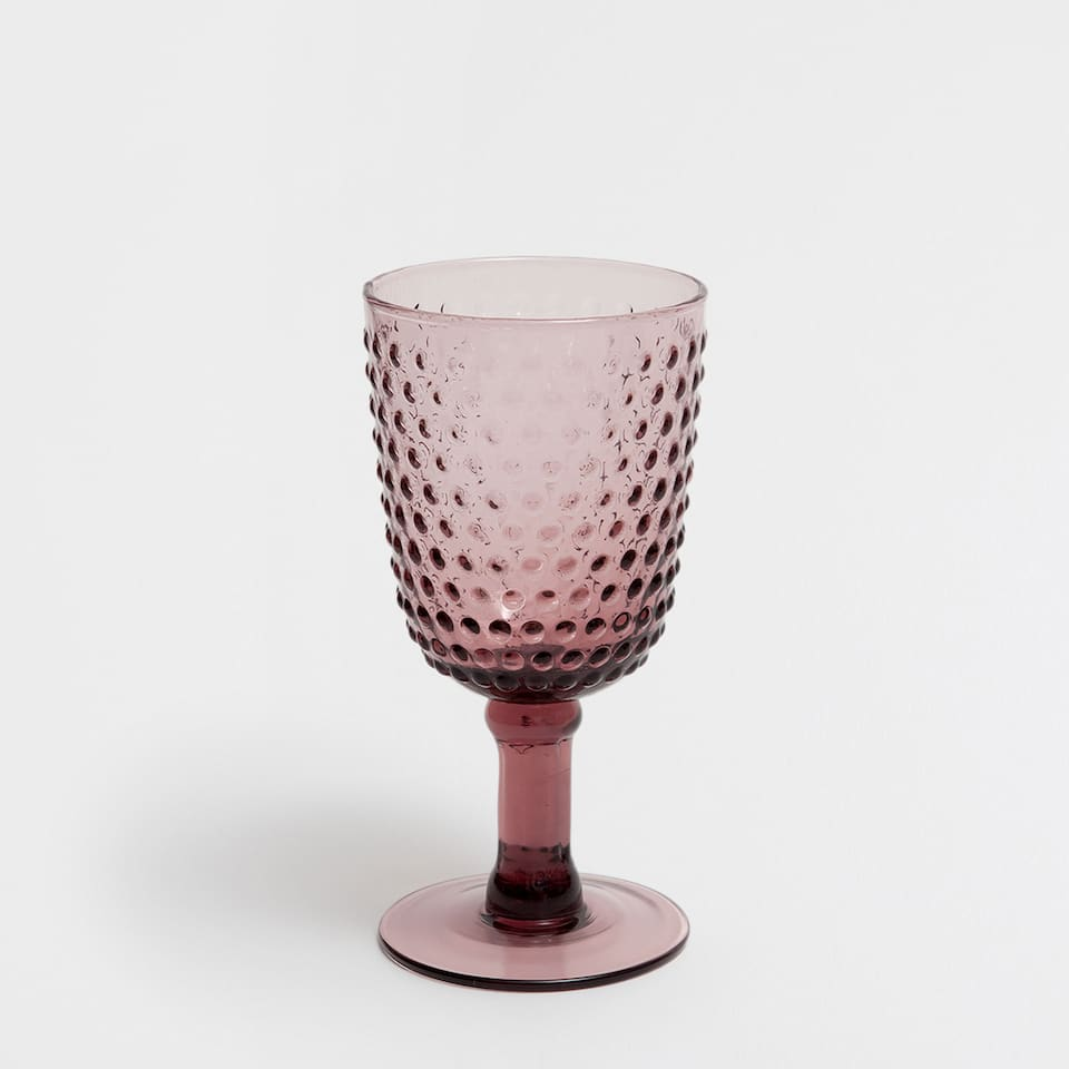 DOTS GLASS WINE GLASS