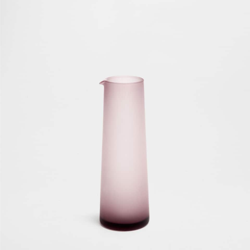 LILAC MATTE-EFFECT GLASS PITCHER