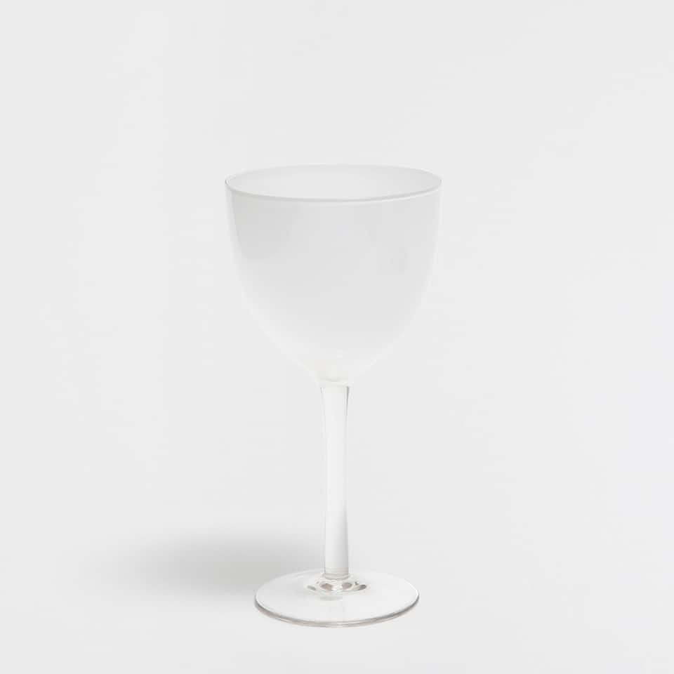 SNOW-EFFECT WINE GLASS