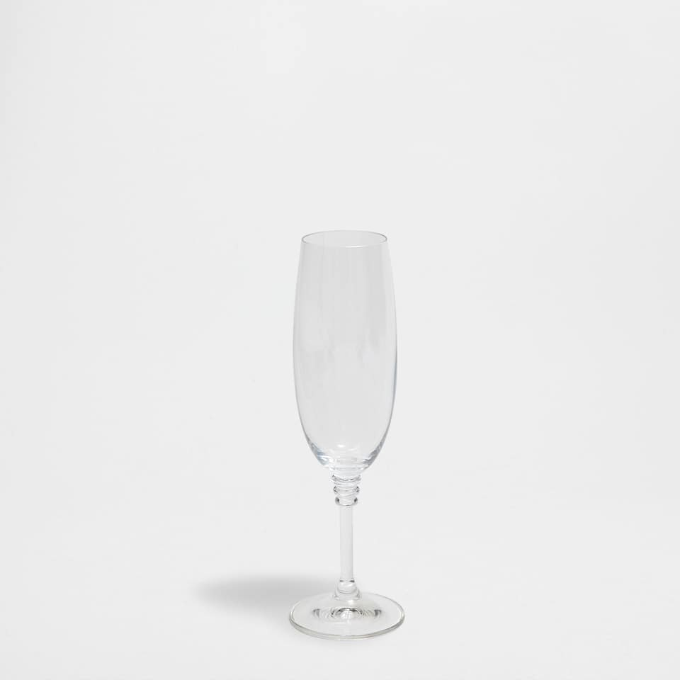 CHAMPAGNE FLUTE WITH RINGS ON THE BASE