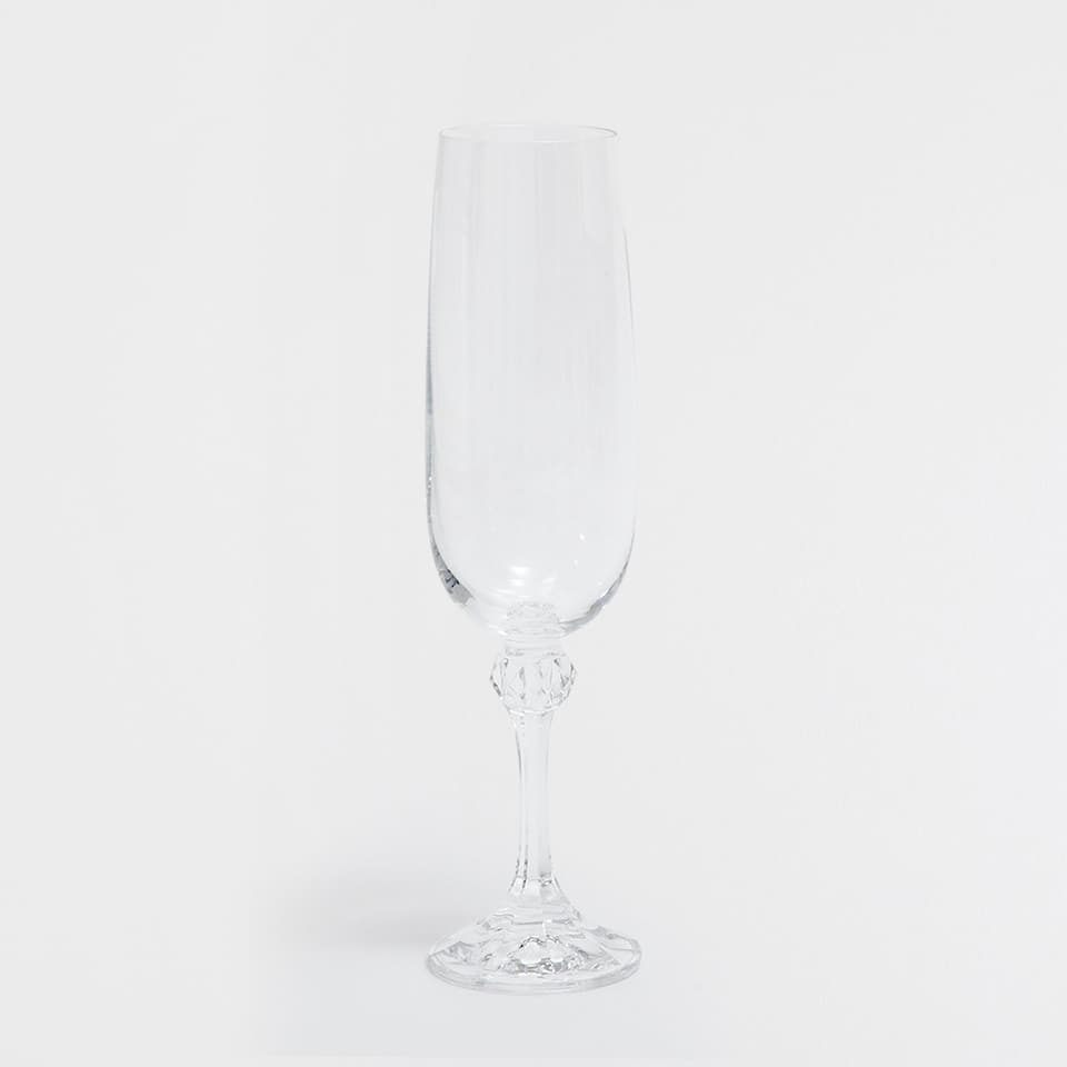 CHAMPAGNE FLUTE WITH A STEM APPLIQUÉ