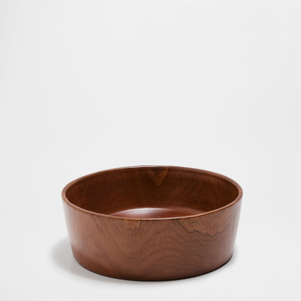 LARGE BROWN WOODEN BOWL