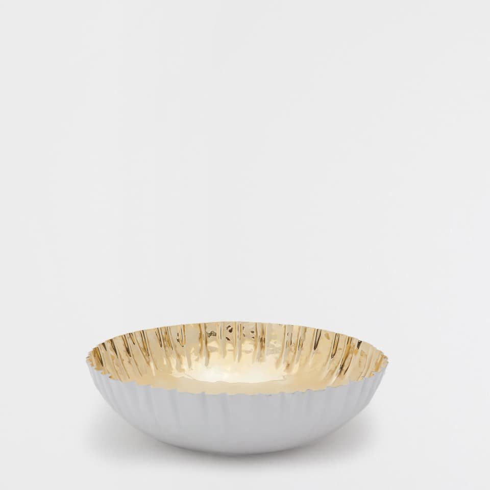 SMALL GOLDEN SERVING DISH