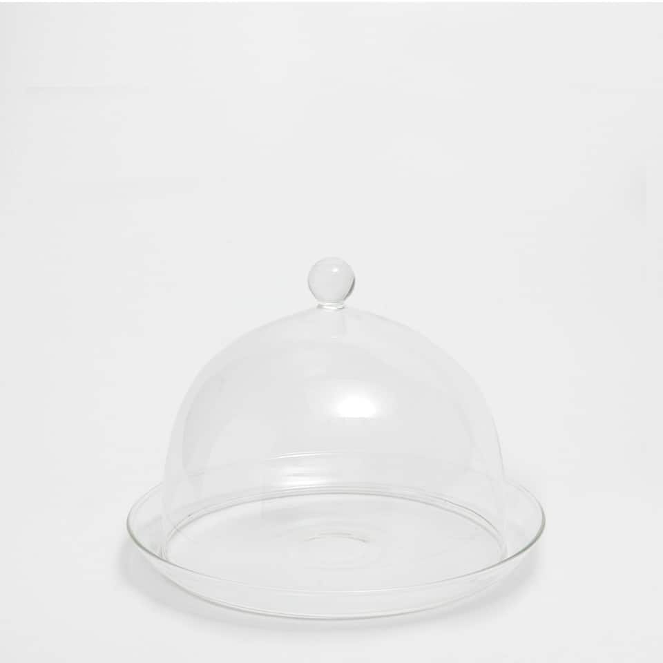 TRANSPARENT GLASS SERVING DISH