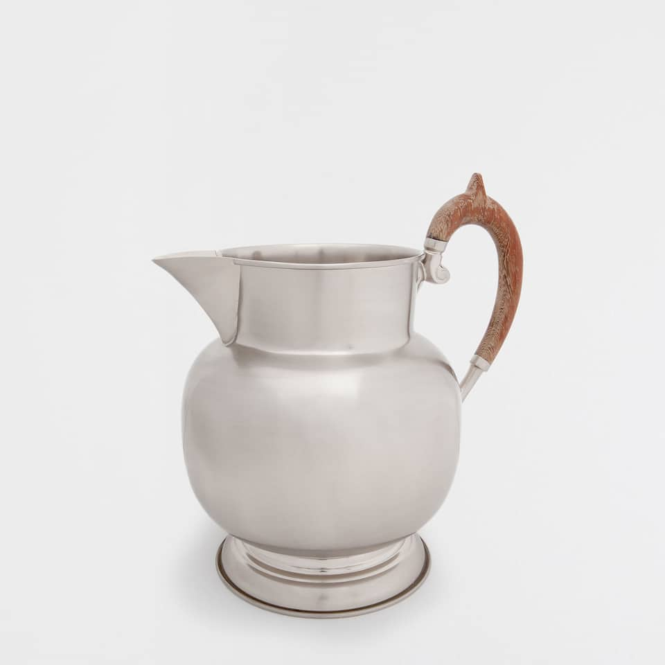 WOODEN HANDLE JUG