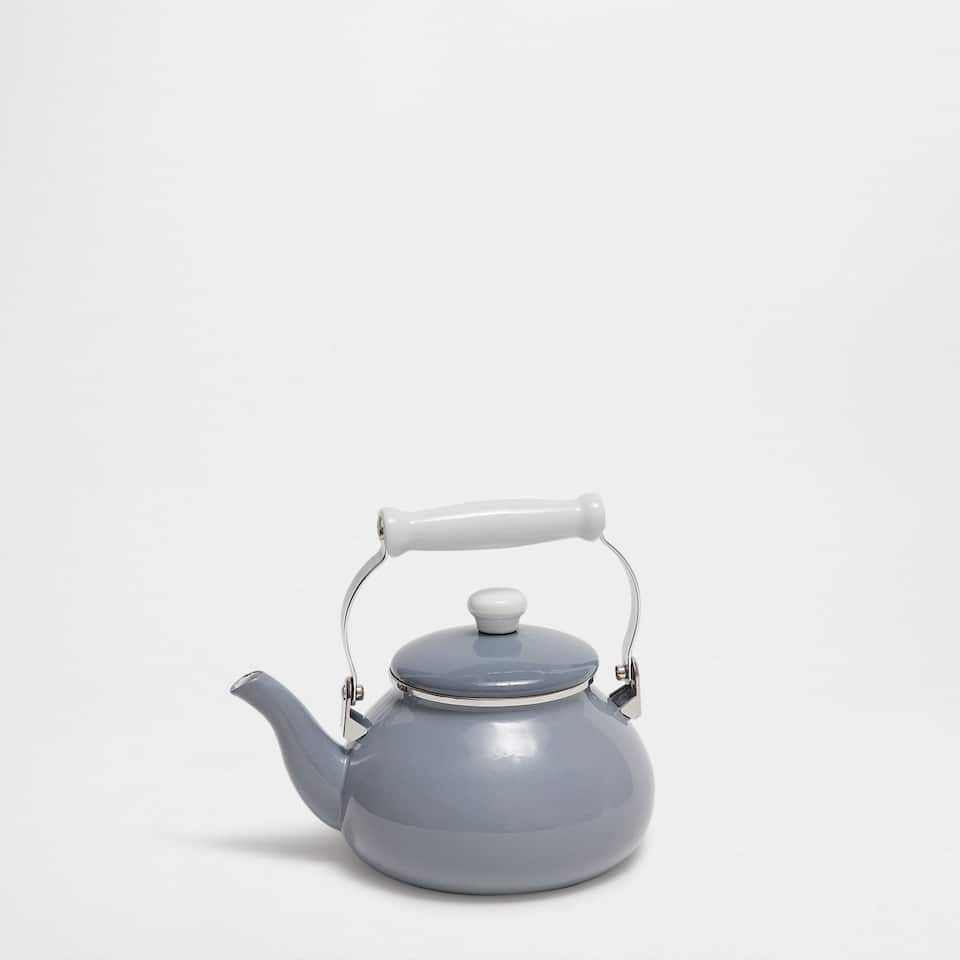 Steel blue teapot
