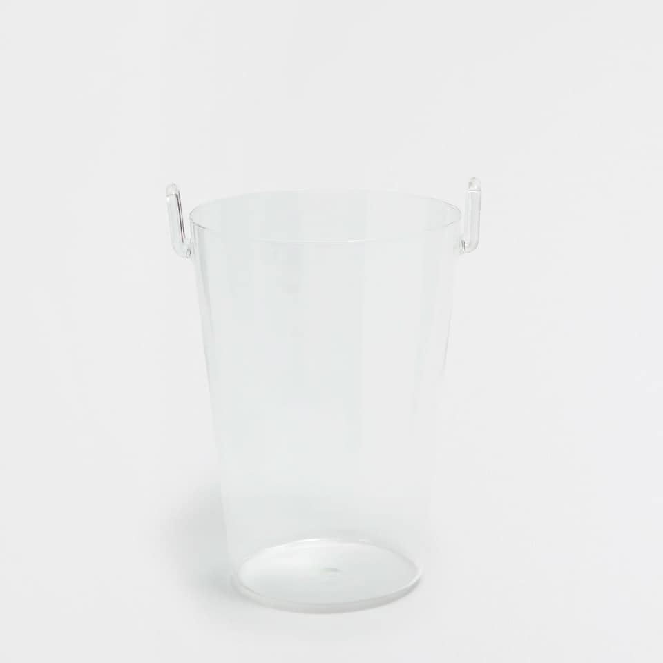 TRANSPARENT GLASS ICE BUCKET