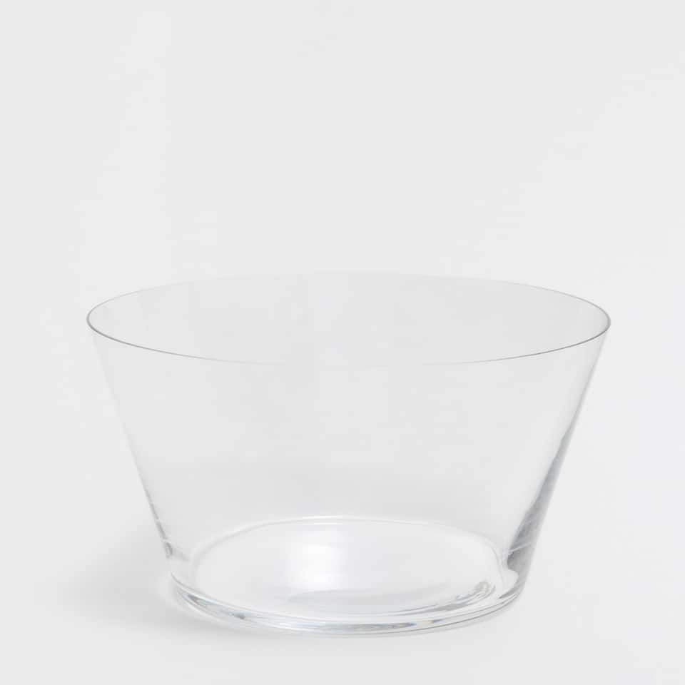 GLASS MOON SALAD BOWL