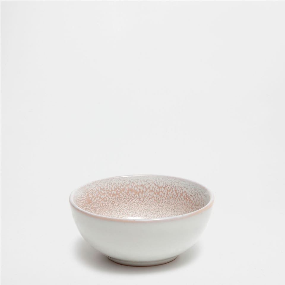 SMALL BROWN PATTERNED BOWL