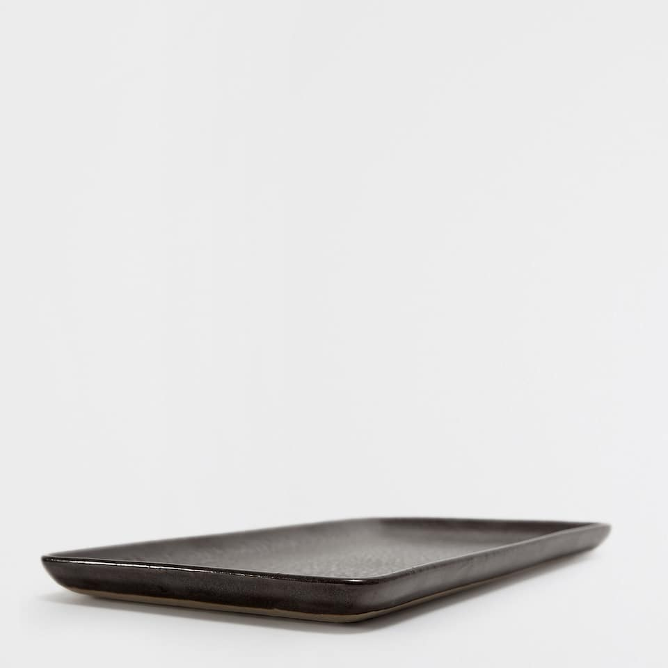 RECTANGULAR BLACK SERVING DISH