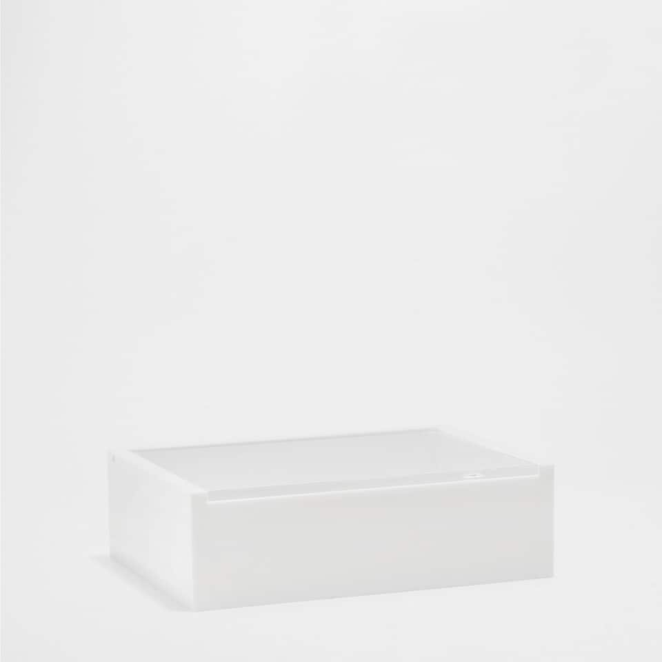 WHITE AND TRANSPARENT BOX