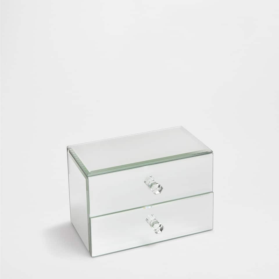MIRRORED BOX WITH DRAWERS