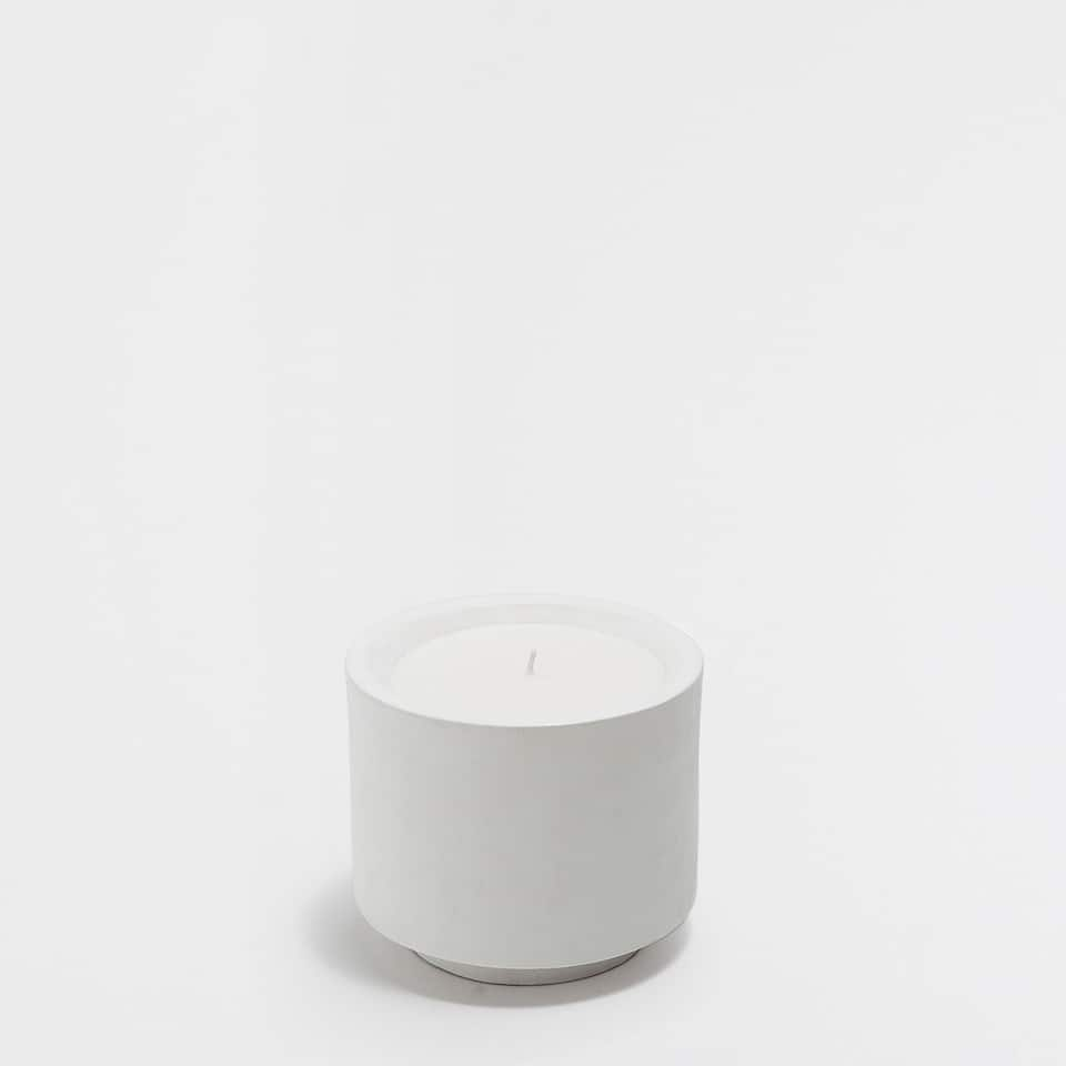 Large white candle holder
