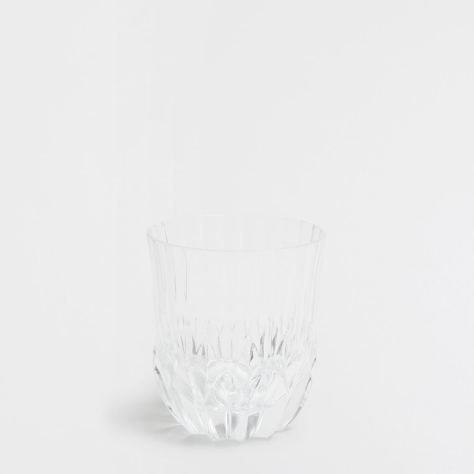 Striped Cut Glass Tumbler