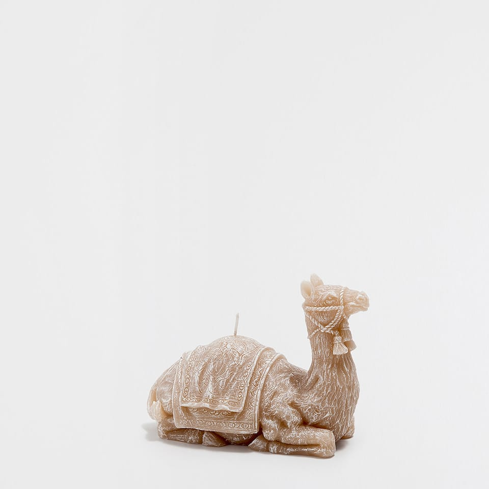 Camel-shaped candle