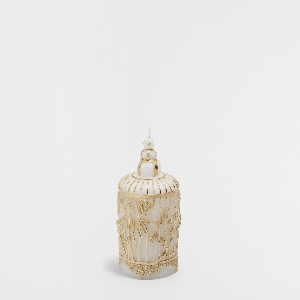 Cage-shaped candle