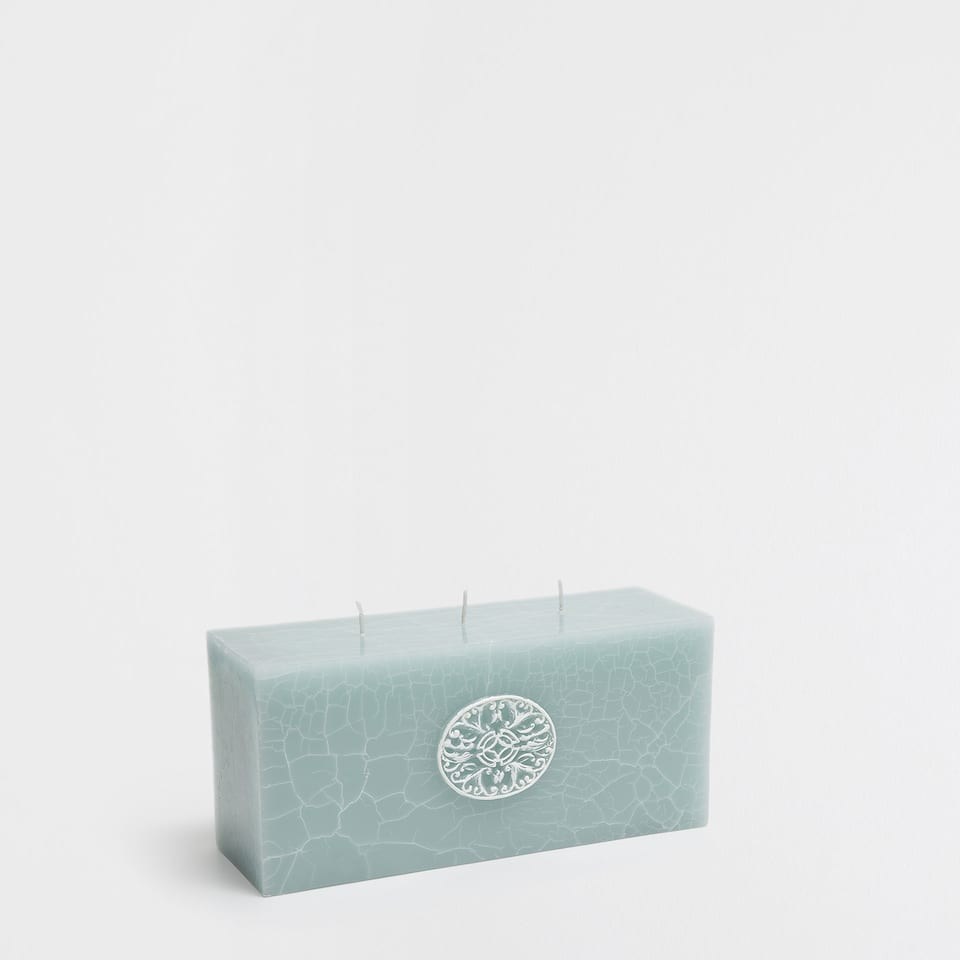 Rectangular block candle