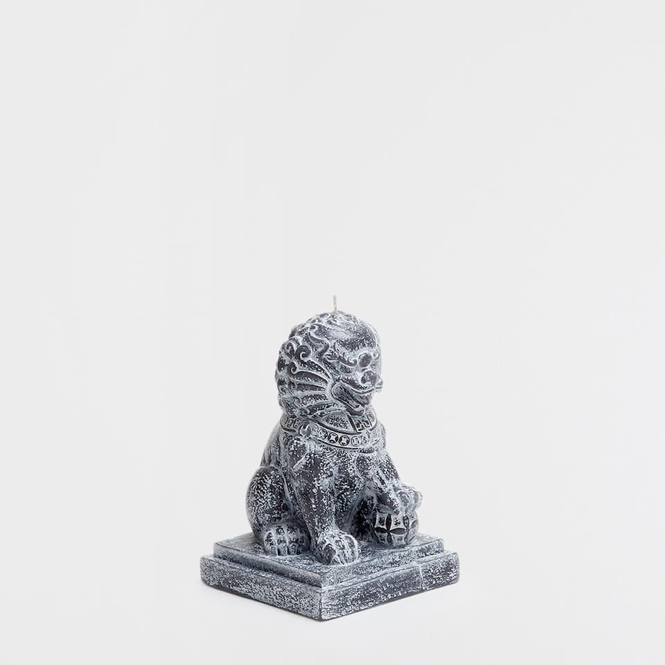 Lion-shaped candle