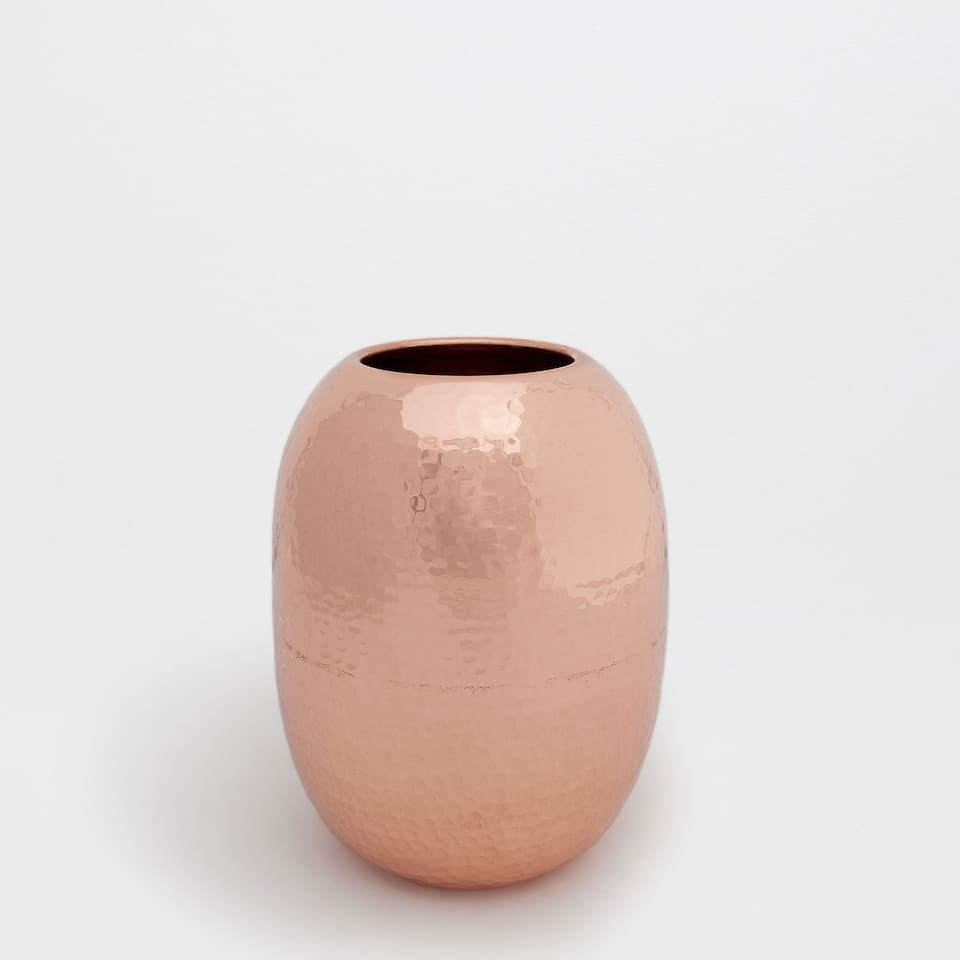 COPPER HAMMERED BRASS VASE