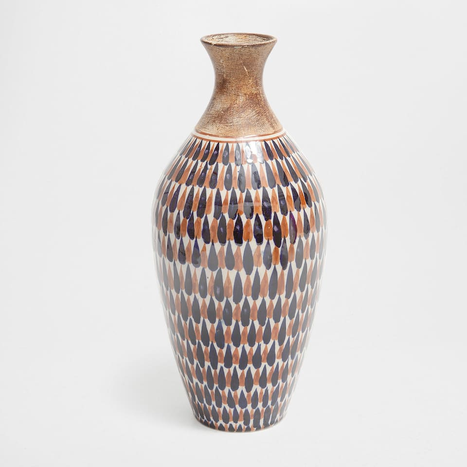 MULTICOLOURED CERAMIC VASE