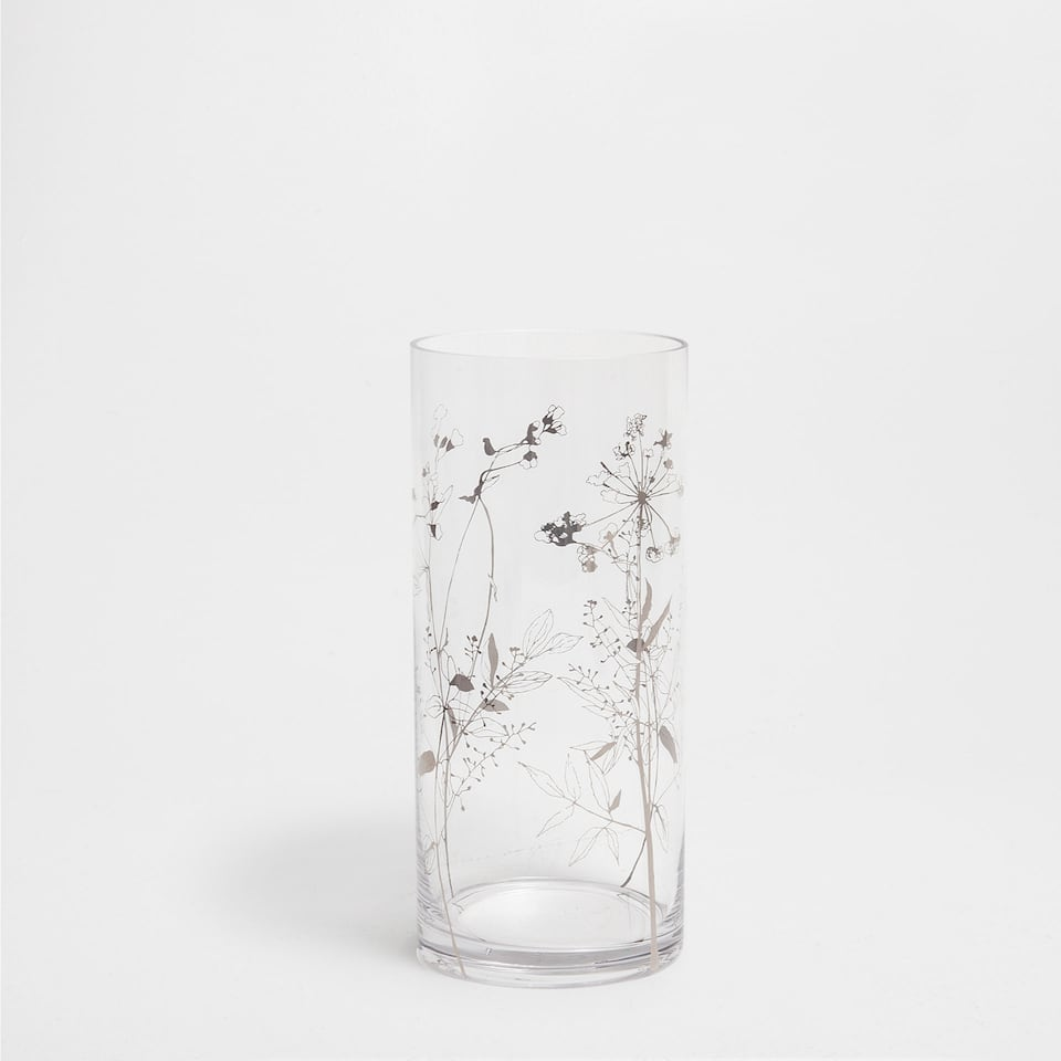 PLANTS-DESIGN GLASS VASE
