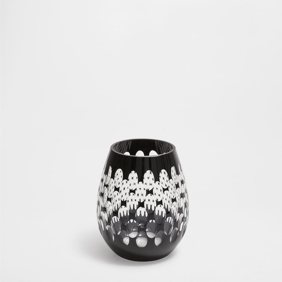BLACK ELLIPSE GLASS VASE