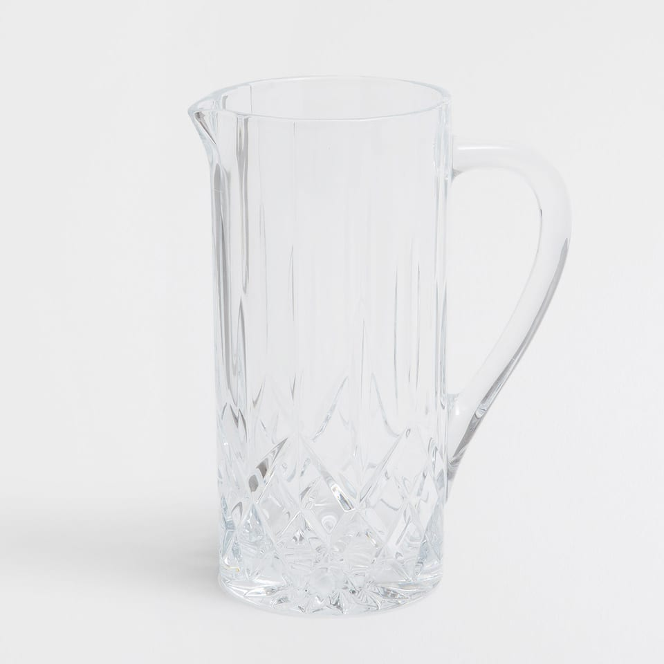 Transparent Engraved Jug