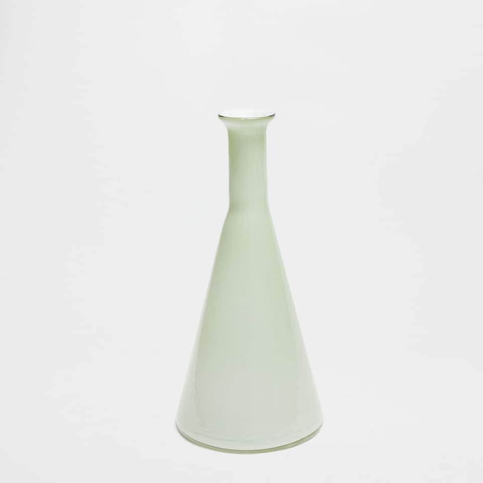 Conical shape GLASS VASE