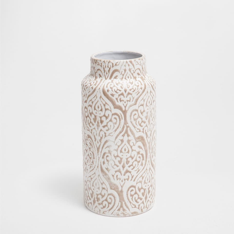 PAISLEY-DESIGN CERAMIC VASE