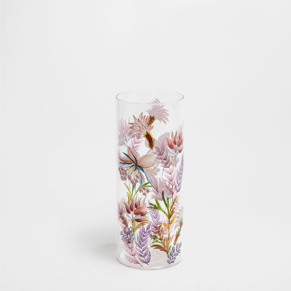 PAINTED GLASS VASE