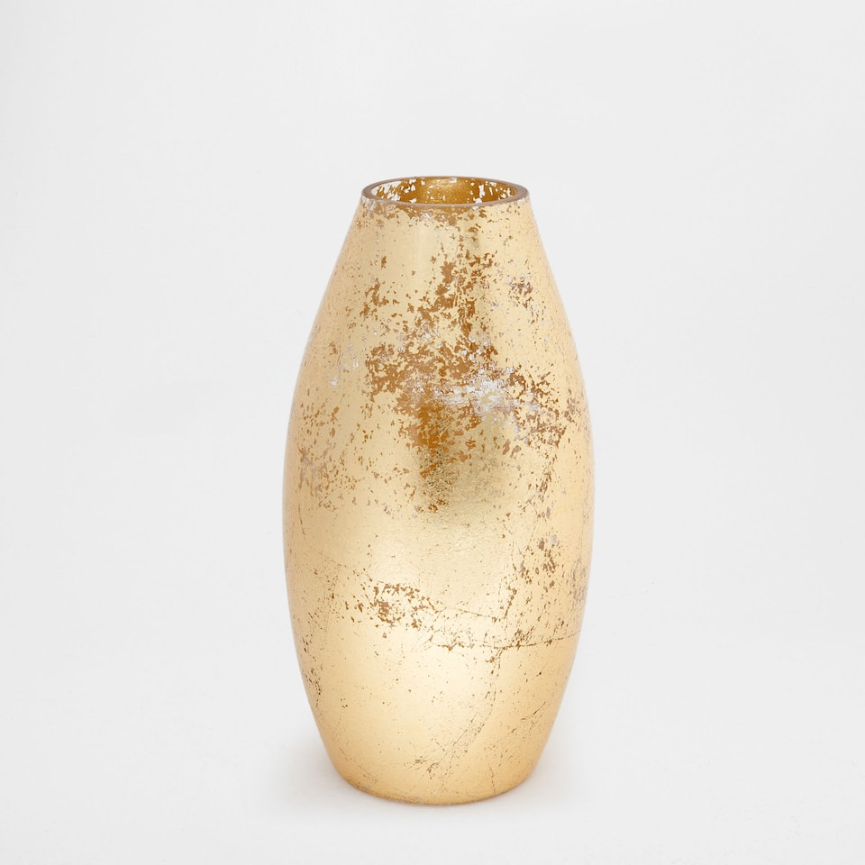 GOLD GLASS VASE