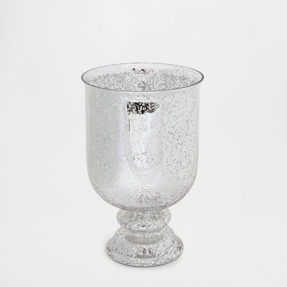 MERCERISED GLASS VASE