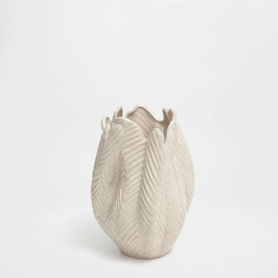 LEAVES CERAMIC VASE